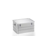 Transportkiste aus Strukturblech, G®-professional BOX A 1599 / 156, 753x553x380 mm, Tragkraft 75 kg, aus Aluminium