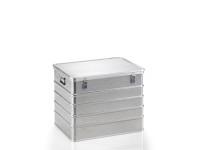 Transportkiste aus Strukturblech, G®-professional BOX A 1599 / 239, 753x553x580 mm, Tragkraft 75 kg, aus Aluminium