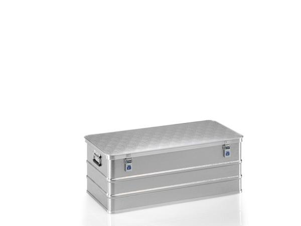 Box aus Strukturblech, G®-allround BOX A 1539 / 150, 950x450x350 mm, Tragkraft 75 kg, aus Aluminium