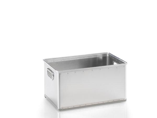 Stabelkorb, G®-STACK A 1130 / 1 , 544x340x270 mm, Tragkraft 40 kg, aus Aluminium