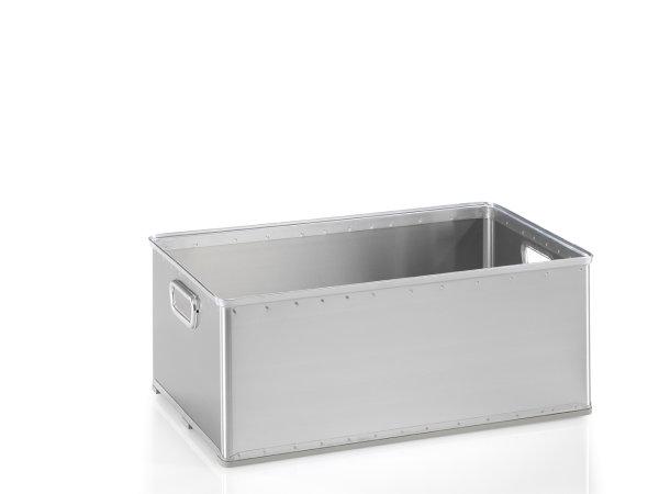 Stabelkorb, G®-STACK A 1130 / 2 , 703x436x270 mm, Tragkraft 50 kg, aus Aluminium
