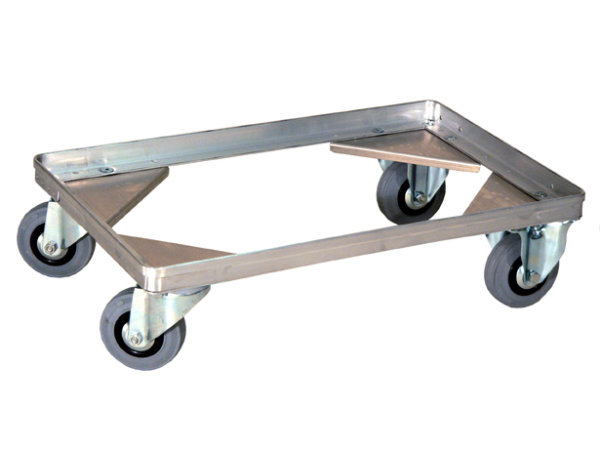 Fahrgestell mit Griffbügel eloxiert, G®-DOLLY C 915 / 1, 575x370 mm, Tragkraft 200 kg