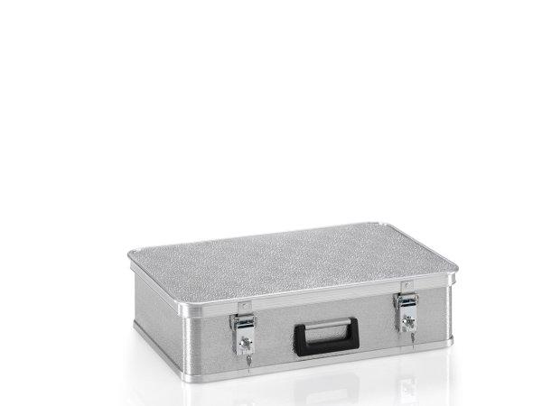 Gerätekoffer aus Strukturblech mit Zylinderschlössern, G®-CASE A 1539 / 36 , 620x400x145 mm, Tragkraft 20 kg, aus Aluminium