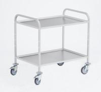 Servierwagen, G®-SERV E 9502 / 2 E, 1060x740x975 mm, Tragkraft 120 kg, aus Aluminium