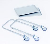 Zusatzausstattung zu Servierwagen E 9501 A , Tablett E 9001 A - lose -, 700x445 mm, Tragkraft 120 kg, aus Aluminium
