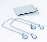 Zusatzausstattung zu Servierwagen E 9502 E , Tablett E 9002 E - lose -, 935x615 mm, Tragkraft 120 kg, aus Edelstahl