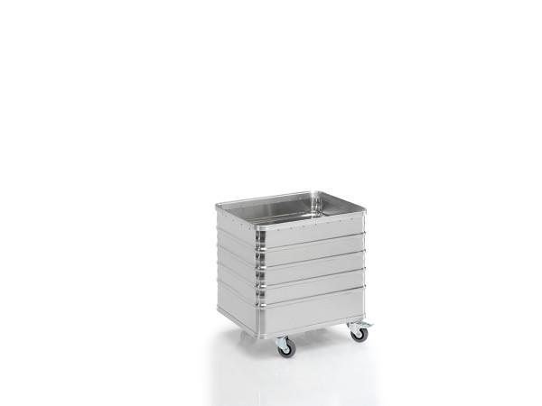 Transportwagen mit Deckel und geschlossenen Wänden, G®-TRANS D 3008 / 235 D , 700x550x580 mm, Tragkraft 200 kg, aus Aluminium