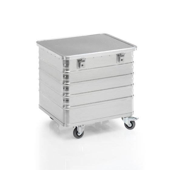 Transportwagen mit Deckel und geschlossenen Wänden, G®-TRANS D 3008 / 240 B, 700x575x570 mm, Tragkraft 200 kg, aus Aluminium