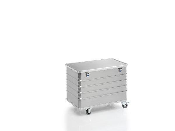 Transportwagen mit Deckel und geschlossenen Wänden, G®-TRANS D 3008 / 330 B, 960x550x610 mm, Tragkraft 200 kg, aus Aluminium