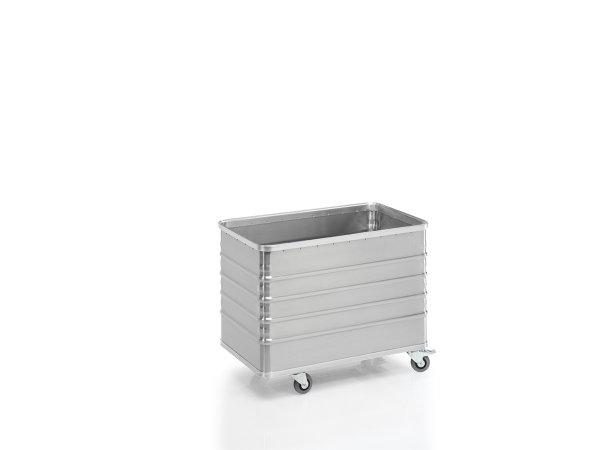 Transportwagen mit Deckel und geschlossenen Wänden, G®-TRANS D 3008 / 330 D , 960x550x610 mm, Tragkraft 200 kg, aus Aluminium