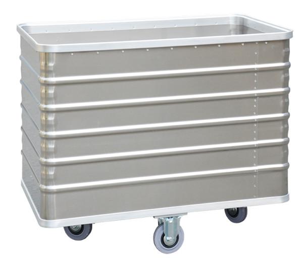 Transportwagen mit Deckel geschlossenen Wänden, G®-TRANS D 3008 / 415 A                    , 1000x640x650 mm, Tragkraft 250 kg, aus Aluminium
