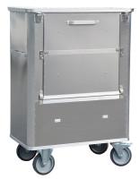 Transportwagen mit geteiltem Deckel und abklappbarer 3 geteilter Längswand, G®-TRANS D 1539 / 690 SCU , 1000x575x1200 mm, Tragkraft 300 kg, aus Aluminium