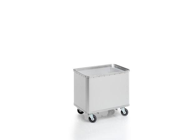 Federbodenwagen eloxiert, G®-ERGO D 1408 / 180 Classic, 740x510x485 mm, aus Aluminium, eloxiert