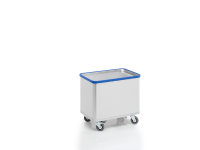 Federbodenwagen eloxiert, G®-ERGO D 1408 / 180 Vario, 740x510x485 mm, aus Aluminium, eloxiert