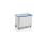 Federbodenwagen eloxiert, G®-ERGO D 1408 / 350 A Vario, 1000x650x580 mm, aus Aluminium, eloxiert