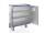 Schrankwagen eloxiert, G®-CUP E 2721 ID , 1320x600x1220 mm, Tragkraft 300  kg, aus Aluminium, eloxiert
