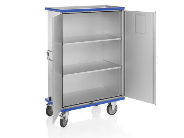 Schrankwagen eloxiert, G®-CUP E 2722 ID , 1130x550x1430 mm, Tragkraft 300  kg, aus Aluminium, eloxiert