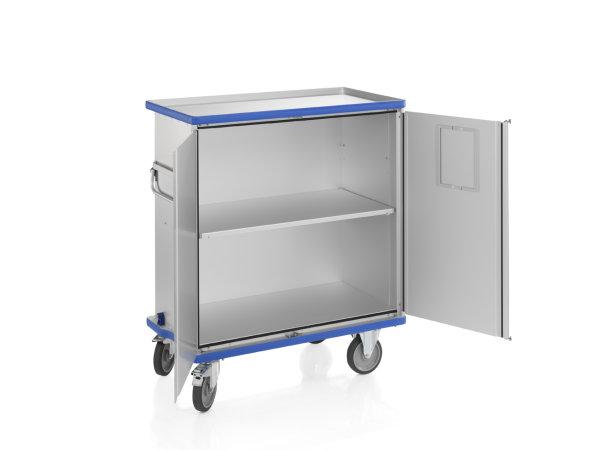 Schrankwagen eloxiert, G®-CUP E 2723 ID , 1130x550x1030 mm, Tragkraft 300  kg, aus Aluminium, eloxiert