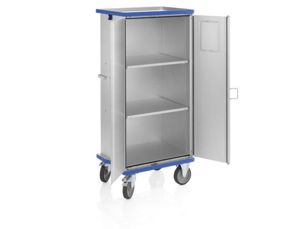 Schrankwagen eloxiert, G®-CUP E 2725 ID, 750x550x1430 mm, Tragkraft 300 kg, aus Aluminium, eloxiert
