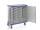 Modul-Schrankwagen eloxiert, G®-CUP ISO E 2733 ID , 1330x635x1167 mm, Tragkraft 300 kg, aus Aluminium, eloxiert