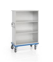 offener Schrankwagen aus Aluminium - Eloxiert, G®-CUP light E 2601/1- 3Fächer, 870x460x1160 mm, Tragkraft 300 kg, aus Aluminium, eloxiert