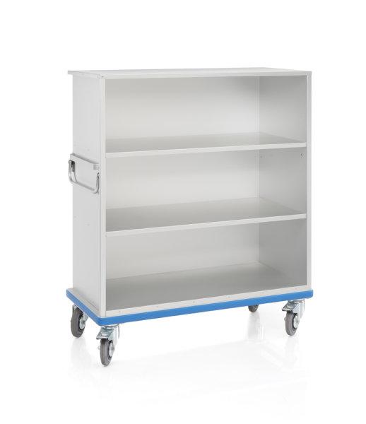 offener Schrankwagen aus Aluminium - Eloxiert, G®-CUP light E 2601/2 - 3Fächer, 1180x540x1187 mm, Tragkraft 300 kg, aus Aluminium, eloxiert