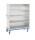 offener Schrankwagen aus Aluminium - Eloxiert, G®-CUP light E 2601/3 - 4Fächer, 1180x540x1355 mm, Tragkraft 300 kg, aus Aluminium, eloxiert