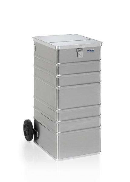 Datenentsorgungsbehälter, G®-DOCU D 1009 / 240 S , 450x550x990 mm, Tragkraft 100 kg, aus Aluminium