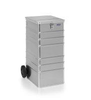 Datenentsorgungsbehälter, G®-DOCU D 1009 / 240 S ergonomic , 450x550x990 mm, Tragkraft 100 kg, aus Aluminium