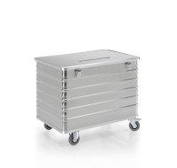 Datenentsorgungsbehälter, G®-DOCU D 3009 / 415 E2HS, 1000x640x650 mm, Tragkraft 250 kg, aus Aluminium