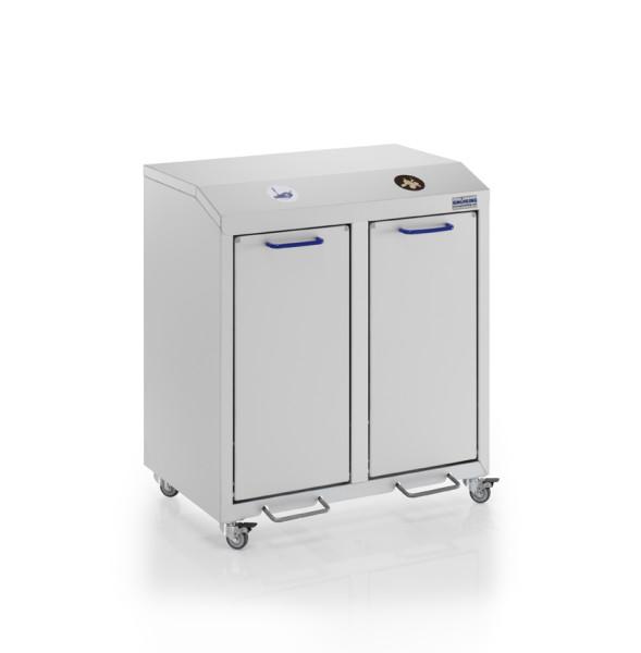 Wertstoffsammler eloxiert - 2 fach, G®-COLLECT X 2001/2 , 720x490x800 mm, aus Aluminium, eloxiert