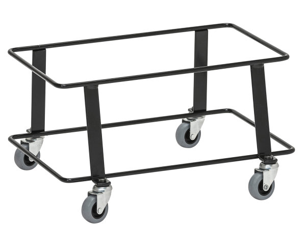 Einkaufskorb Sammelwagen, 430x285x285 mm, 50 kg Tragfähigkeit, Schwarz