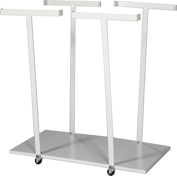 Müllsackständer , 820x450x900 mm, 50 kg Tragfähigkeit, Weiß