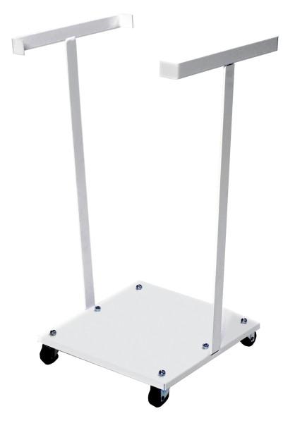 Müllsackständer , 450x380x1130 mm, 30 kg Tragfähigkeit, Weiß