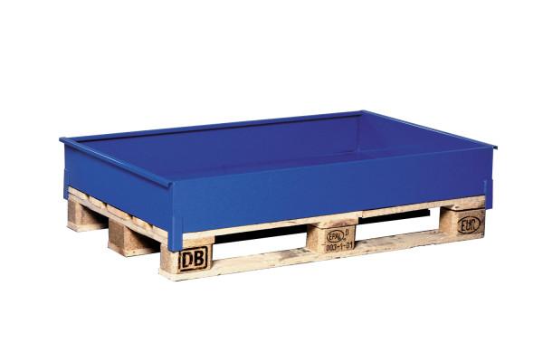 Sicherheitscontainer für Wannen, Flaschen, Fässer, 1240x800x160 mm, Blau