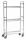 Mobiler Etagenwagen, 3 Ebenen, 790x290x1500 mm, 75 kg Tragfähigkeit, Verzinkt / Weiß