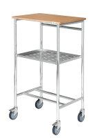 Rollpult, 600x440x1055 mm, 150 kg Tragfähigkeit, Verzinkt / Buchenholz