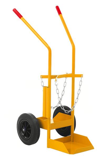 Gasflaschenwagen, 530x1080x550 mm, 150 kg Tragfähigkeit, Gelb