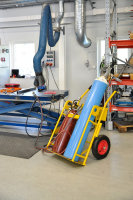 Gasflaschenwagen, 750x1160x1170 mm, 250 kg Tragfähigkeit, Gelb