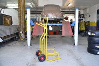 Reifentransportwagen, 1300x840x1490 mm, 200 kg Tragfähigkeit, Gelb