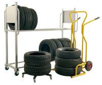 Reifentransportwagen, 650x650x130 mm, 120 kg Tragfähigkeit, Schwarz