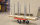 Transportwagen für Palettenrahmen, 800x600x1215 mm, 300 kg Tragfähigkeit, Rot / Elektrolytisch verzinkt, ohne Bremsen