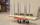 Transportwagen für Palettenrahmen, 800x600x1215 mm, 300 kg Tragfähigkeit, Rot / Elektrolytisch verzinkt, mit Bremsen