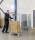 Stapelbarer Rollcontainer, 800x700x1570 mm, 400 kg Tragfähigkeit, Verzinkt