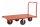 Extra großerPlattformwagen, 1400 x 760 mm, 1200 kg Tragfähigkeit, Rot, luftbereift