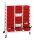 Kistenwagen, 21 Ebenen, 950x420x1205 mm, 150 kg Tragfähigkeit, Weiß
