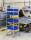 Kistenwagen, 8 Ebenen, 460x590x1880 mm, 150 kg Tragfähigkeit, Verzinkt, mit Bremsen