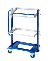 Kistenwagen, 3 Ebenen, 800x415x1100 mm, 150 kg Tragfähigkeit, Blau
