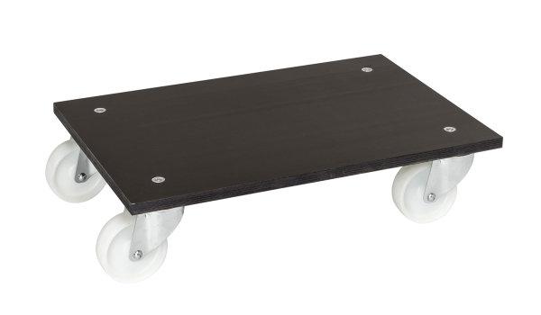 Rollwagen, 600x400x140 mm, 300 kg Tragfähigkeit, MDF, braun
