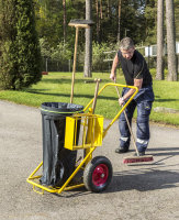 Reinigungswagen, 1200x820x1000 mm, 150 kg Tragfähigkeit, Gelb, luftbereift